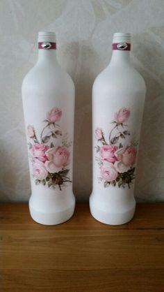 Fles met bloemservet