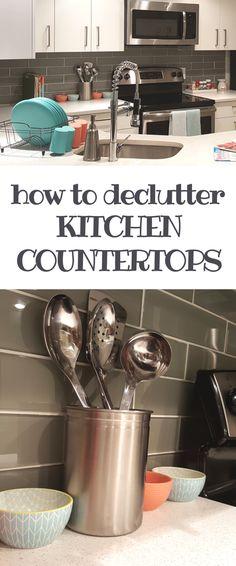 Organize Kitchen Countertops
