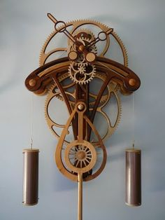 steampunked wood clock (can you read it? :P)