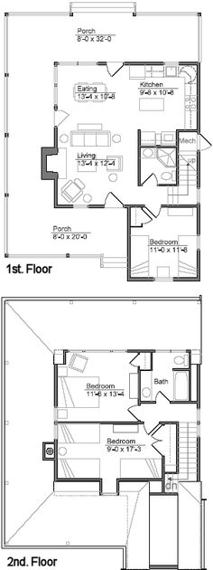 Cabin Plan And Blueprint   Lakeside Cabin Plan Download Package    Crawlspace Version