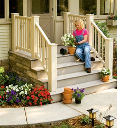 How to Build a Front or Back Entry Deck and Steps | Replacing Steps | Curb Appeal | HANDY Magazine