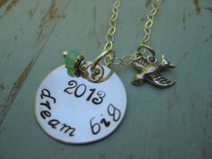 2013 Dream Big Graduation Necklace  Sterling by TakeFlightBoutique