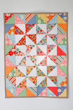 Such an easy pattern, but nice baby quilt.