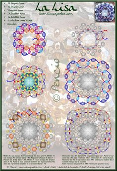 Here is a  pattern for a beautiful pendant or ring Lisa by fairy Pencio!