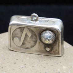 Radio Charm Vintage Sterling Silver Nostalgic | eBay