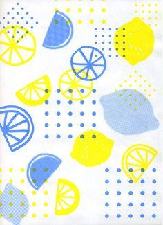 Beautiful blue and yellow lemons prints. Food Patterns, Pretty Patterns, Textile Patterns, Beautiful Patterns, Textiles, Surface Pattern, Pattern Art, Surface Design, Pattern Design