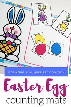 Housewife Eclectic: Your preschoolers will love counting to ten with these Easter egg math mats! Focus on number recognition, number words, and counting with this free preschool printable. Free Preschool, Preschool Printables, Easter Activities For Kids, Preschool Activities, Egg Card, Number Recognition, Easter Colors, Coloring Easter Eggs, Counting
