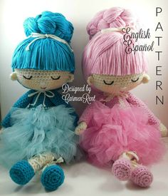 Pau and Angie Amigurumi Doll Crochet Pattern PDF door CarmenRent