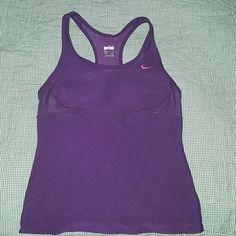 Nike purple tank top Eggplant colored purple running tank with built in bra Nike Tops Tank Tops