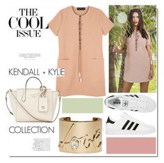 """""""Lace Up Safari Dress from Kendall+Kylie..."""" by nfabjoy ❤ liked on Polyvore featuring adidas, Lanvin, Gucci, women's clothing, women's fashion, women, female, woman, misses and juniors"""