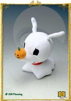 Amazon.com: Tim Burton's The Nightmare Before Christmas Zero Stuffed Plush Toy: Toys & Games