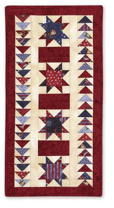 Stars & Bars Tablerunner - Patriotic Quilts