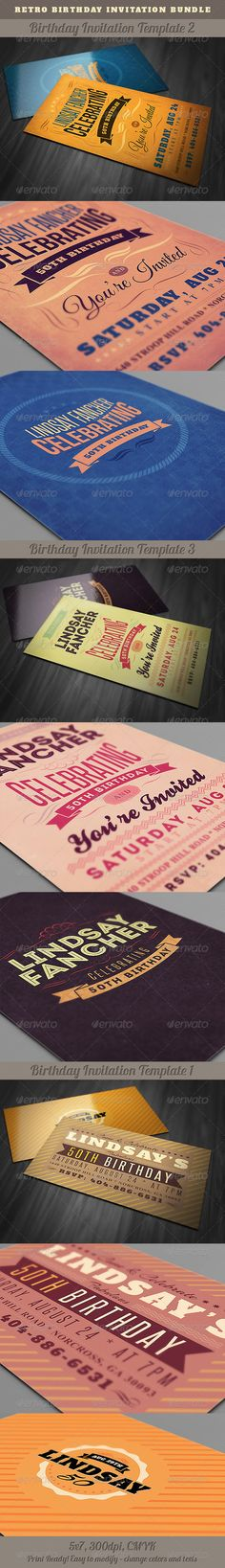 Birthday Invitation Ticket Card Invitation Templates Ticket - Retro birthday invitation template