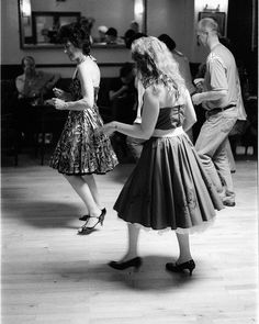 The Stroll...don't know if this is a 50's photo...but the stroll was a great dance back then.