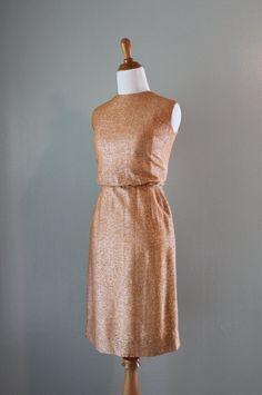60s bronze dress.