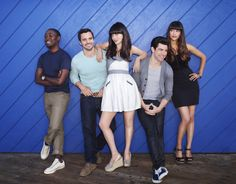 New Girl season two official gang photo. Body language giving nothing away. Courtesy of Fox.