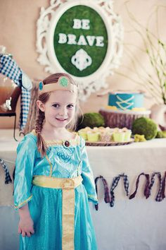 "Birthday Girl: ""I made this cute Merida-style crown using a template I found here,"" Hana says. Source: The MomTog Diaries"
