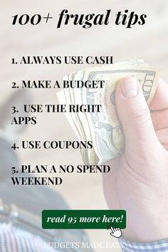 Are you thinking about living a frugal lifestyle? Wondering what you can do to take back control of your spending and enjoy more peace? Cut back on the amount of stuff you buy and how much you spend on it to save yourself cash each month! A frugal lifestyle might sound difficult, but it is easier than you think! And this list of 100 ways to be frugal is sure to help you get a head start.