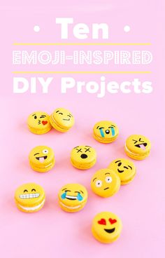 Adorably and trendy DIY projects inspired by emoji, like a heart-eyes, smiley face clutch.