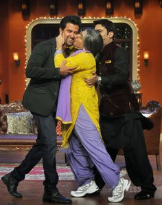 """The most famous and popular #Comedy show """"Comedy #Nights with #Kapil"""" Ali Asghar is the most #famous & Popular as the #dadi,"""