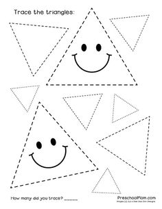 Pre-writing skills for your young ones are so easy to implement just by introducing shapes! Try these 10 free shape tracing worksheets to help your students prepare for drawing and writing skills! Shape Tracing Worksheets, Shape Worksheets For Preschool, Tracing Shapes, Art Worksheets, Preschool Printables, Preschool Lessons, Preschool Learning, Kindergarten Worksheets, Printable Worksheets