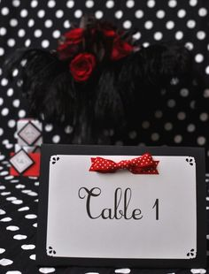 Rockabilly table cloth I want red and black table cloths like this for the reception. I also think it would be neat to get old records and place them on the tables. Maybe with a customized sticker? Do you know what size tables the Moose has? 50s Wedding, Wedding Bride, Dream Wedding, Wedding Day, Gold Wedding, Rockabilly Wedding, Rockabilly Pin Up, Polka Dot Theme, Polka Dots