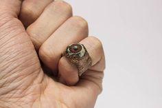 Badeye small Ring raw copper magic cursing ring. HEX