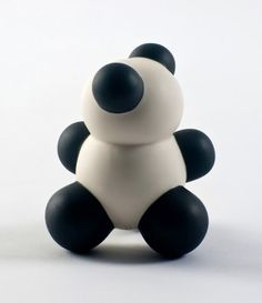 Adding sculptural art to our home! We love this Panda MoBear limited edition sculpture by Anyuta Gusakova