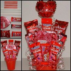 35+ Gorgeous Valentine Candy Bouquet Ideas Valentine Gift Baskets, Valentines Mugs, Valentine Ideas, Valentine Crafts, Candy Bouquet, Easy Diy Crafts, Firefighters, Diy Gifts, Holiday Gifts