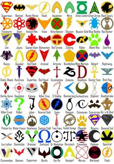 The Symbols of DC Superheroes