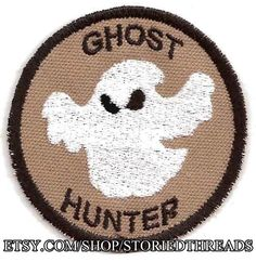 Ghost Hunter Geek Merit Badge Patch by StoriedThreads on Etsy, $8.00