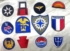 American WWII Mixed Shoulder Insignia Lot by Vintageroom24h