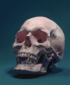Skull, Ted Wu on ArtStation at https://www.artstation.com/artwork/AoJmy