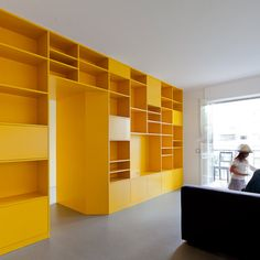 opnieuw indelen - yellow cabinetry