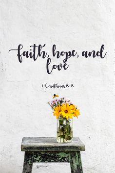 1 Corinthians 13: 13