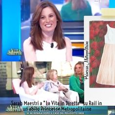 """L'attrice Sarah Maestri a """"La vita in diretta"""" su Rai1"""
