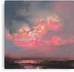 Cumulus Consonance Study 1 oil painting by Scottish landscape artist Scott Naismith ☁ Abstract Landscape, Landscape Paintings, Landscapes, Abstract Oil Paintings, Painting Clouds, Painting Trees, Painting People, Painting Flowers, Art Paintings