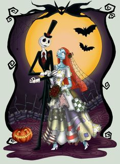 *JACK & SALLY ~ Nightmare before Christmas Jenn, this pin is for you..