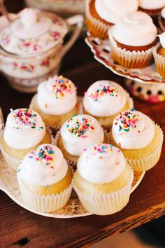 Cupcakes with sprink