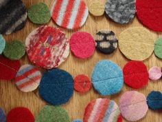 I love this garland from recycled felted sweaters!