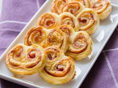 Palmiers jambon-fromage à la moutarde - Recette de cuisine Marmiton : une recette