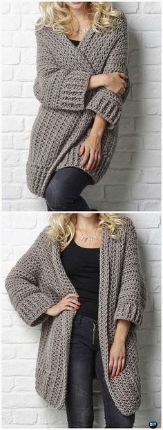 Crochet Big Chill cardigan Pattern - #Crochet Women Sweater Coat-Cardigan Free Patterns #CrochetIdeas