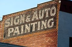 Sign And Auto Painting ghost sign in Butte, Montana