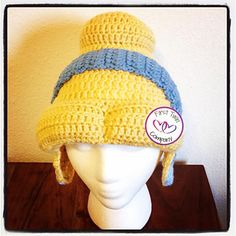 This listing is for the Princess inspired beanie crochet pattern in Child size.