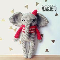 Amigurumi Pattern Elephant by Mongoreto on Etsy