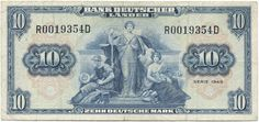 10 Deutsche Mark 1949 (Allegorische Darstellungen)