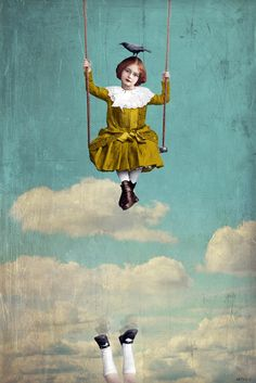 "Beth Conklin - Mixed Media & Digital Art - ""You are forgiven for your happiness and your successes only if you generously consent to share them"" - Albert Camus Art And Illustration, Illustrations, Fantasy Kunst, Fantasy Art, Pop Surrealism, Surreal Art, Photomontage, Bird Art, Mixed Media Art"