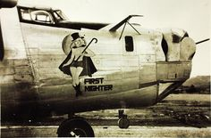 """First Nighter"" 380th Bomb Group Consolidated B-24 Liberator by San Diego Air & Space Museum Archives, via Flickr"
