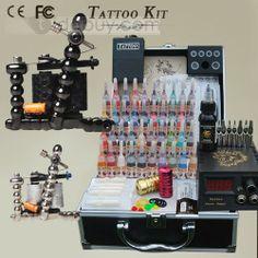 US$125.99 2 Carbon Alloy Guns Tattoo Kit With LCD Power Supply and Inks. #New #Alloy #With #Supply Tattoo Kits, Tattoo Supplies, Piercings, Guns, My Love, Tattoos, Peircings, Weapons Guns, Piercing