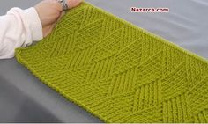 This Pin was discovered by Müş Tips And Tricks, Knitting Stitches, Fingerless Gloves, Arm Warmers, Knitting Patterns, Videos, Weaving, Womens Fashion, Handmade